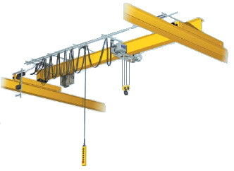 Lowhead Room Single Girder Overhead Cranes Yellow Color Q235B Material
